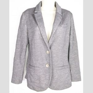 Anthropologie Elevenses Gray Blazer Sz M Buttons